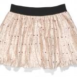 ecru spódnica C&A w groszki plisowana - moda wiosna/lato
