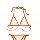 ecru strój kąpielowy Clarks wiązana na szyi - lato 2012
