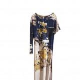 ecru sukienka H&M w kwiaty - lato 2011