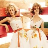 ecru sukienka Max Mara w kwiaty - wiosna 2012