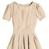 ecru sukienka Orsay rozkloszowana - wiosna/lato 2012