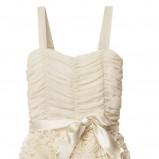 ecru sukienka wieczorowa H&M z kokardą - wiosna/lato 2012