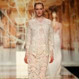 ecru suknia ślubna Yolan Cris koronkowa