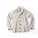 ecru sweter Springfield rozpinany - trendy jesienne