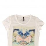 ecru t-shirt Reporter we wzory - lato 2012
