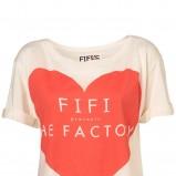 ecru t-shirt Topshop z aplikacją - moda wiosna/lato