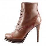 ekstra botki na szpilce  Prima Moda w kolorze brązowym  - moda damska 2012/2013