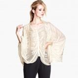 elegancka bluzeczka H&M w kolorze ecru - moda damska