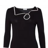 elegancka bluzeczka Solar w kolorze czarnym - wiosna i lato 2013