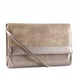 elegancka kopertówka H&M w kolorze beżowym - torebki na jesień i zimę