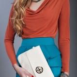 elegancka kopertówka Pretty Girl w kolorze ecru - moda damska 2012/13