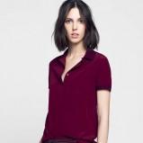 elegancka koszula Lacoste w kolorze bordowym - moda dla kobiet 2013