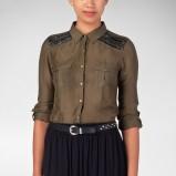 elegancka koszula Stradivarius w kolorze khaki - moda damska 2012/13