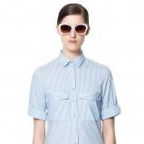 elegancka koszula ZARA w paski w kolorze błękitnym - trendy na lato