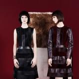 elegancka sukienka Fendi w kolorze czarnym - moda na zimę 2013/14