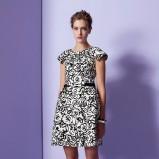elegancka sukienka Moschino we wzorki - trendy 2013/2014
