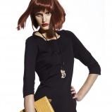 elegancka sukienka Sesst w kolorze czarnym  - kolekcja jesienno - zimowa 2012/13