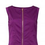 elegancka sukienka Solar z zamkami w kolorze fioletowym - moda damska 2013