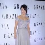 elegancka sukienka w kolorze srebrnym - Joanna Jabłczyńska