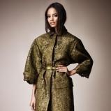 elegancki płaszcz Burberry w kolorze khaki - kolekcja na wiosnę 2013