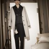 elegancki płaszcz Lanvin w kolorze beżowym - jesień 2013