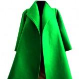 elegancki płaszcz Rina Cossack w kolorze zielonym - kolekcja jesień - zima 2012/2013
