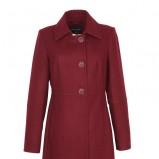 elegancki płaszcz Top Secret w kolorze bordowym