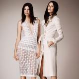 elegancki płaszczyk Burberry w kolorze ecru - moda damska
