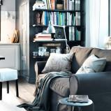 Eleganckie meble salon IKEA  -urokliwe wnętrze