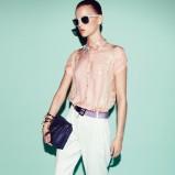 eleganckie spodnie Patrizia Pepe w kolorze białym - trendy na wiosnę 2013