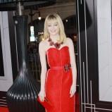 Emma Stone w czerwonej sukience