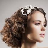 Fale - fryzura ślubna