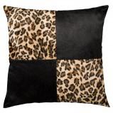 Fantazyjna poduszka dekoracyjna w panterkę do salonu -  Black Red White