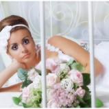 fascynator ślubny marArt na opasce