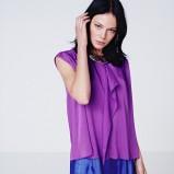 fioletowa bluzka H&M - wiosna 2012