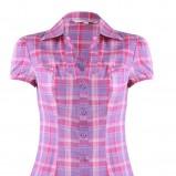 fioletowa bluzka Tally Weijl w kratkę - lato 2011