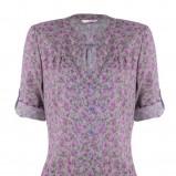 fioletowa bluzka Tally Weijl w łączkę - trendy wiosna-lato