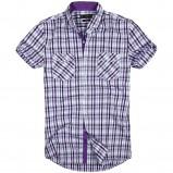 fioletowa koszula Reserved w kratkę - wiosna/lato 2012