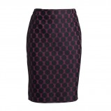 fioletowa spódnica Lindex w czarne kropki - kolekcja damska