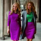 fioletowa sukienka TARANKO - 2012 trendy na jesień