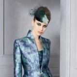 fioletowa sukienka wieczorowa Higar w kwiaty - trendy 2012