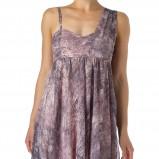 fioletowa sukienka wieczorowa New Look w kwiaty - zima 2011/2012