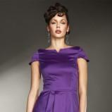 fioletowa sukienka wieczorowa Nife satynowa