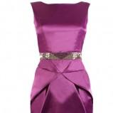 fioletowa sukienka wieczorowa Szafomania satynowa