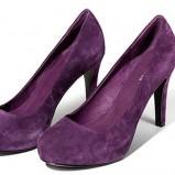 fioletowe czółenka Reserved z zamszu - moda 2011/2012