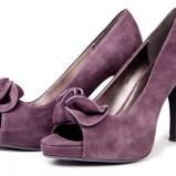 fioletowe pantofle Reserved z zamszu - wiosenna kolekcja
