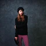 fioletowe spodnie Springfield we wzorki - kolekcja jesienna