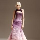 fioletowo - różowa suknia ślubna ombre Versace