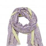 fioletowy szalik Mango w panterkę - moda 2012