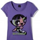 fioletowy t-shirt Reserved z nadrukiem - moda wiosna/lato